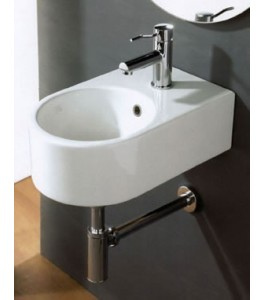 White Stone Tag Bathroom Sinks