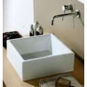 White Stone Tank Bathroom Basins