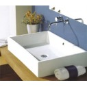 White Stone Tank Bathroom Sinks